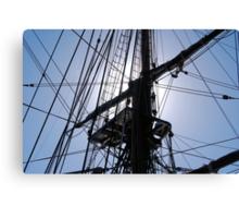 HMS Bounty tall ship rigging Canvas Print