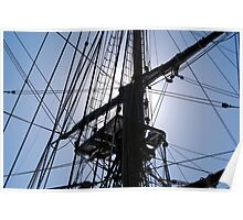 HMS Bounty tall ship rigging Poster