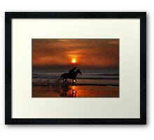 go like the wind Framed Print