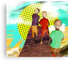 Let's go to the Mushroom Sun Canvas Print