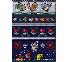 Cute Video Game Pixel Christmas Photographic Print