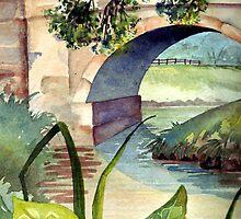 Bridge Over River Foss Strensall by Val Spayne