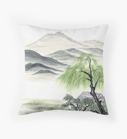 Willow by Amphai Masquelier Throw Pillow