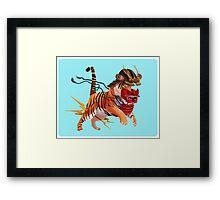 Samurai Kiai Framed Print