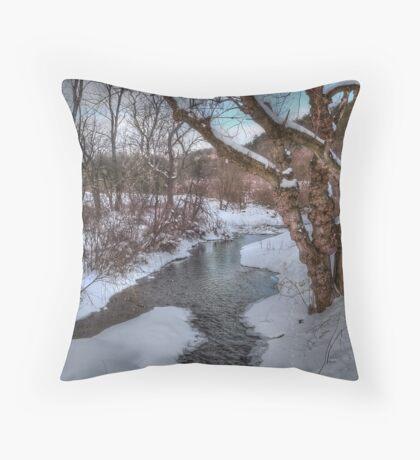 Winter's Landscape Throw Pillow