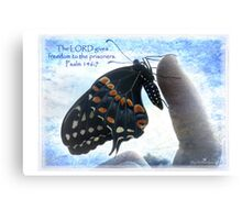 The Lord gives freedom Canvas Print