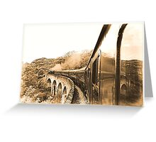 Steam train to Mallaig Greeting Card