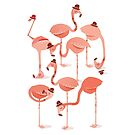 Flamingo's by Jacques Maes