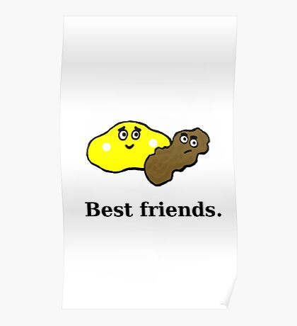 Best Friends - Pee and Poo Poster