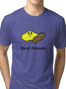 Best Friends - Pee and Poo Tri-blend T-Shirt