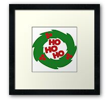ho ho ho Christmas wreath Framed Print