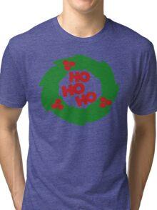 ho ho ho Christmas wreath Tri-blend T-Shirt