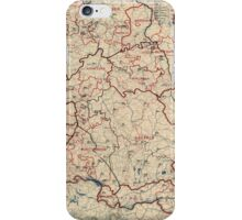 World War II Twelfth Army Group Situation Map June 23 1945 iPhone Case/Skin