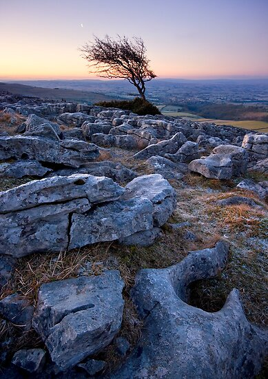 New Moon on Twistleton Scar by Angie Latham