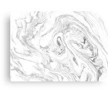 Suminagashi Love, Black and White Canvas Print