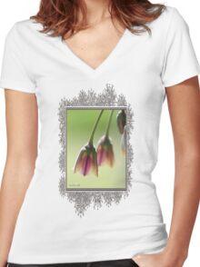 Sicilian Honey Garlic Women's Fitted V-Neck T-Shirt