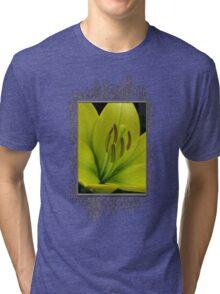 Hybrid Lily named Trebbiano Tri-blend T-Shirt