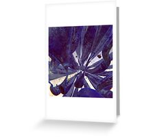 Blue Flow - Abstract CG Render Greeting Card