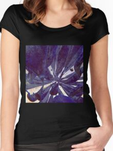 Blue Flow - Abstract CG Render Women's Fitted Scoop T-Shirt