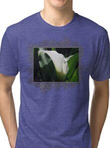 Zantedeschia named Crystal Blush Tri-blend T-Shirt