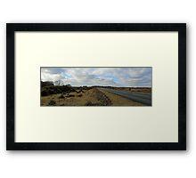 The long long road Framed Print