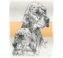 English Setter Father & Son Poster