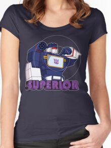 Soundwave: Superior (bust) Women's Fitted Scoop T-Shirt