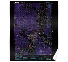 USGS Topo Map Oregon Cottage Grove 279448 1984 24000 Inverted Poster