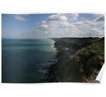 The Atlantic Coastline above Fécamp - Normandy, France Poster