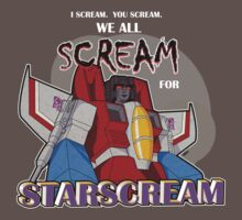We All Scream for Starscream (dark tee) One Piece - Short Sleeve