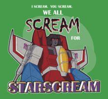 We All Scream for Starscream (dark tee) One Piece - Short Sleeve