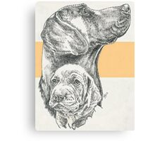 Weimaraner, Father & Son  Canvas Print