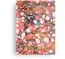 Psychedelic Retro Marbled Paper Metal Print