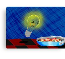 Children's Oven Toy, Meet Bacon Canvas Print