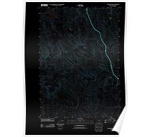 USGS Topo Map Oregon Tub Mountain 20110831 TM Inverted Poster