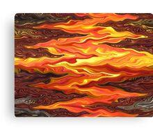 Color Fashion Waves Canvas Print