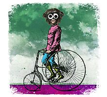 BEHOLD ... THE SIMIAN VELOCIPEDE Photographic Print