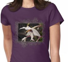 Acidanthera or Peacock Gladiolus Womens Fitted T-Shirt