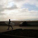 Ocean Beach - Last Day of January by Barbara Wyeth
