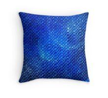 Bubbly Blues Stones  Throw Pillow