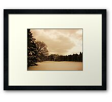 On the brink of Happiness  Framed Print