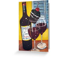 Cupcake wine and a Cupcake Greeting Card