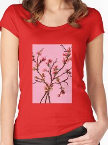Cherry Blossoms from Amphai Women's Fitted Scoop T-Shirt