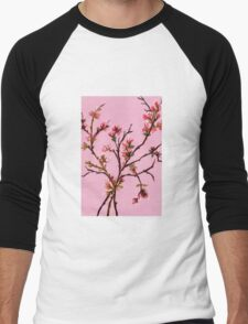 Cherry Blossoms from Amphai Men's Baseball ¾ T-Shirt
