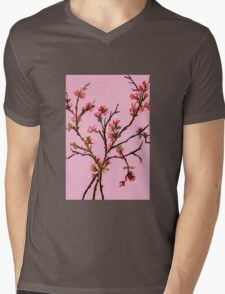 Cherry Blossoms from Amphai Mens V-Neck T-Shirt