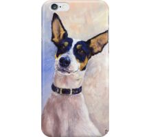 Daisy - Portrait of a Ratonero Bodeguero Andaluz iPhone Case/Skin