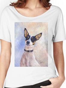 Daisy - Portrait of a Ratonero Bodeguero Andaluz Women's Relaxed Fit T-Shirt