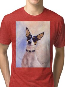 Daisy - Portrait of a Ratonero Bodeguero Andaluz Tri-blend T-Shirt