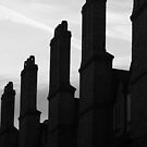 Chimney stacks - Cambridge, England by James Walker
