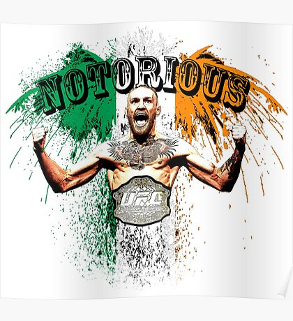 Conor McGregor Notorious UFC Poster